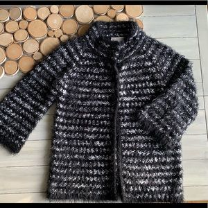 Black and White Button front Cardigan